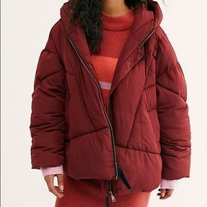 NWOT Free People Hailey Puffer Coat Size L
